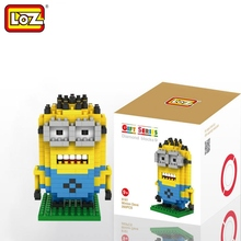 LOZ Single Sale Mini Fat Minions Diamond Bricks Despicable Movie Educational Building Blocks Toys Children 9161 - LOZs Block Store store