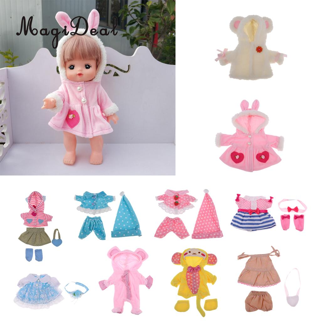 Pink Romper Jumpsuit Socks Hat Outfit for 10/'/'-11/'/' Reborn Baby Girl Doll