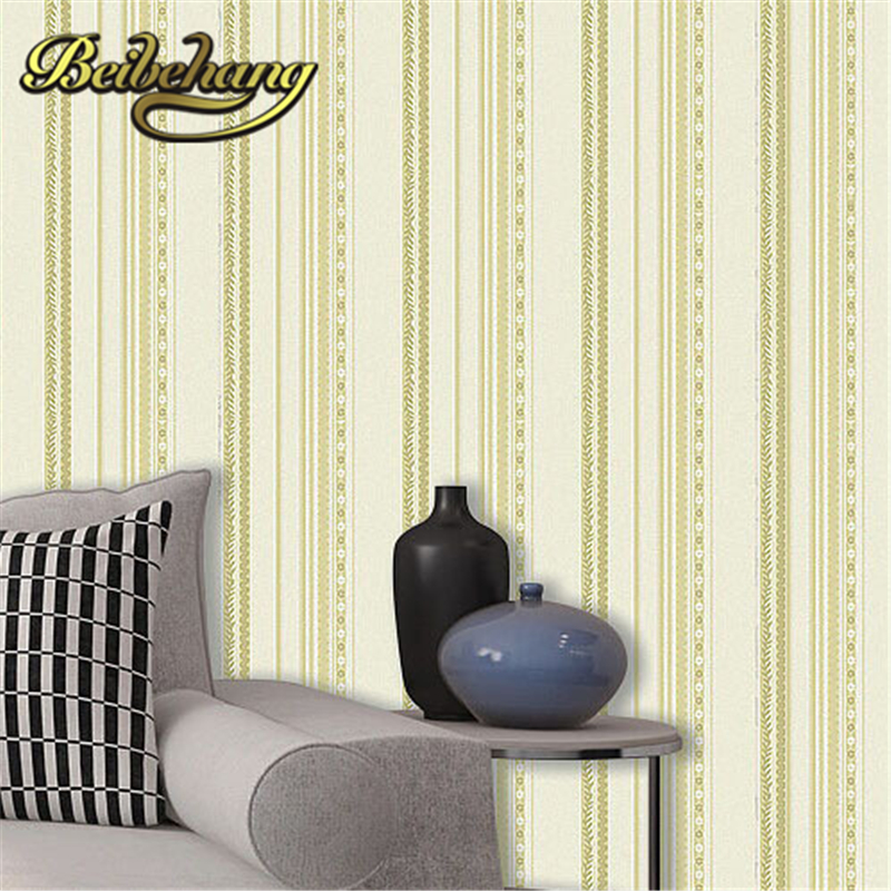 beibehang  papel de parede. 10M roll Pvc vinyl vertical striped textured feature wallpaper wallcovering decor in bedroom livin<br>