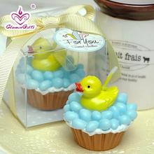 Cute duck shaped smookless candle baby shower baptism party favor children gift present birthday