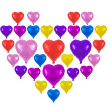 New 5pcs Wedding Helium Colorful Foil Starlight Cordate Heart Shape Balloon Birthday