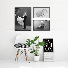 1 set Custom Prints 3 Canvas Your Picture,Family,Friends Or Baby Photo,Favorite Image, Wedding Photos Poster Unframed Wall Decor
