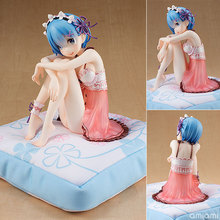 Re:life In A Different World From Zero Rem 15cm Action Figure Re Zero Rem Pajamas Japanese Anime Figures Model Collection(China)