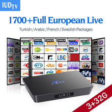 4K Amlogic S912 IPTV Box X92 Canal+French1700 Channels Max 1 year Subscription Europe Arabic Sweden Android 6.0 Smart IP TV Box