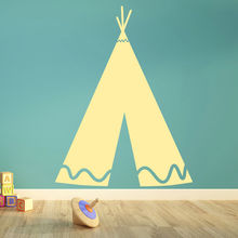 Indian TeePee Tent Wall Stickers Removable Vinyl Wall Decal Play Room Wall Sticker For Kids Room Home Decor Vinilos Parede SA351