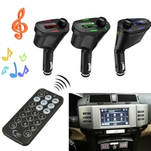 3.5mm Car Auto Green Light Wireless USB Kit Tr ansmitter Car MP3 Player For SD MMC LCD Remote FM Transmit ter Modulator