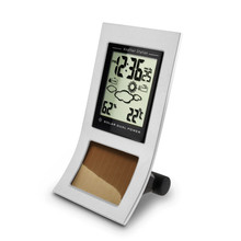 Eco Dual Battery and Solar Power Weather Station for Home Temperature Display Humidity Tendency Indicator(China)
