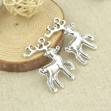Buy 7 pcs 38*25 mm Antique Tibetan Silver Charms Bracelet Necklace Pendant New Fashion Alloy charm Christmas deer 2314 for $1.37 in AliExpress store