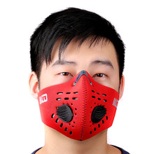 PM2.5 Carbon Protective Filter Face Mask Two Exhale Valves Dustproof Mouth-muffle Outdoor Sports Bicycle Motor Wind-proof Mask(China)