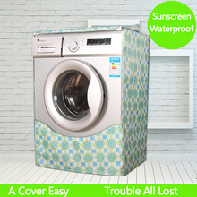 Waterproof Washing Machine Cover Printing Coated Silver Oxford Cloth Drum Washer Dustproof Sunscreen Protection Cover(China)