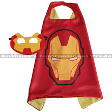 Halloween 1set Iron man cape with MASK Male children's birthday party mask faver cosplay Halloween fashion gifts cosplay(China)