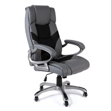 Executive Office Chair Racing Style Leather Grey/Black Swivel Computer Gaming Chair High-Back Office Furniture Ergonomic Chair