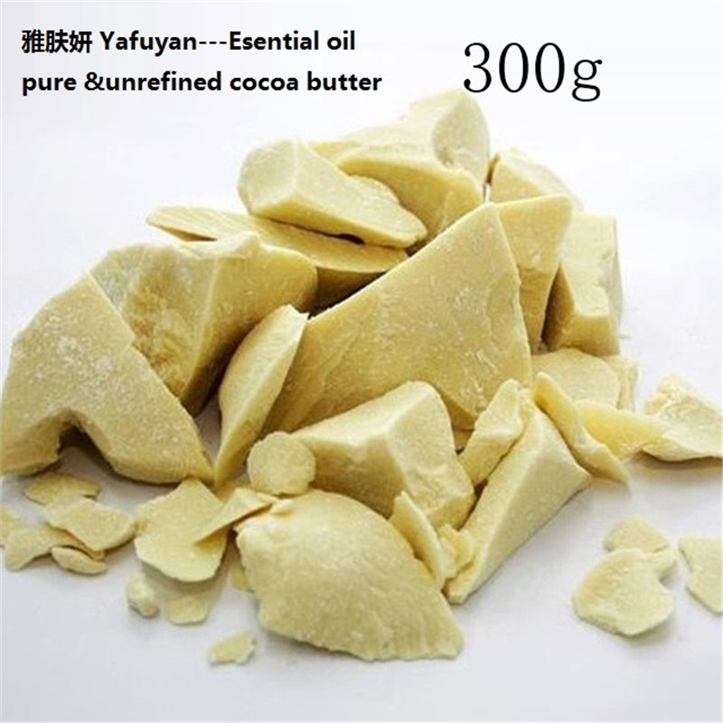 Natural ORGANIC Essential Oil 300g/ bag Pure Cocoa Butter Ounces Raw Unrefined Cocoa Butter Base Oil YAFUYAN food grade 1