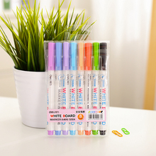 8 color whiteboard marker Colorful Erasable pen for White board Stationery Office School supplies arcador pizarra blanca F973
