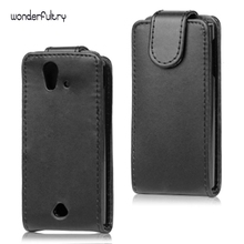 Wonderfultry Cover Coque For sony st18i Cheap PU Leather Flip Case Capa for Sony Ericsson Xperia Ray ST18i ST18a