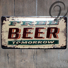 Beer Signs Vintage 15*30 cm Tin Plate Metal Art Poster Bar Pub Home Cafe Wall Decor Shabby Chic Wall Poster Metal Signs