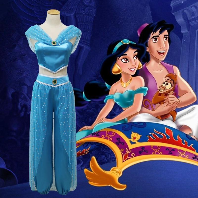 Halloween Aladdin Cosplay Costume Princess Jasmine Adult