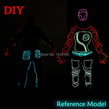 Hipster Favors Led Strip Night Fluorescent Costume Event Party Cosplay EL Cold Light Shadow Superhero as Concert Party Supplies(China)