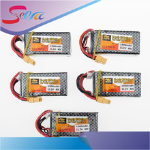 Zop 11.1V 3S 1500mah lipo battery 40C T XT60 plug 5pcs for RC Car Airplane trucks buggy boats Helicopter parts(China)