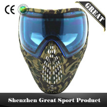 Camo Camouflage Full Face Anti Fog Paintball Mask with DYE I4 Thermal Lens