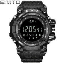 GIMTO Brand  Digital Sport Watch Altimeter Barometer Smartwatch Shock Male LED Waterproof Wrist Watches Military Clock Relojes