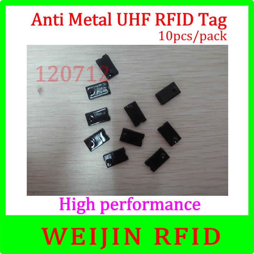VIKITEK VT120712 10pcs per pack UHF RFID anti metal tag 920-925MHZ EPC small square Ceramic tag Alien Higgs3 chip free shipping<br>
