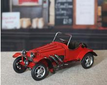 Home Decoration Crafts Figurines Miniatures vintage retro Iron Metal Convertible colored classic antique car model free shipping