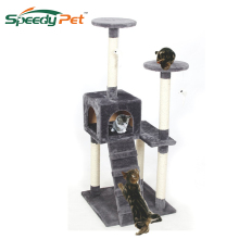 Domestic Delivery Cat Toys Animals Luxury Furniture Cat Tree Pet Home Climbing Frame Cat Furniture Kitten House Height 129cm