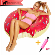 2017 3 Size Sweet Dessert Giant Pool Floats  Adult Super Large Gigantic Doughnut Pool Inflatable Life Buoy Swimming Circle Ring