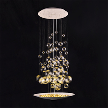 LFH New Modern Creative Bubble Glass Beads Chandelier Lighting Fixture Bedroom living room cafe bar Diningroom Lamp Light(China)