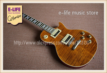 Hot Selling Best Price Brown Tiger Flame Slash Appetite LP Signature Guitar & Left Hand Available