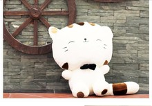 stuffed animal lucky cat tie soft hello kitty white plush toy 28cm about 11 inch doll wt6900(China)
