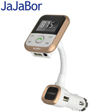 JaJaBor Bluetooth Car Kit MP3 Player Handsfree Wireless FM Transmitter Radio Adapter With LCD Remote Control For SmartPhone(China)