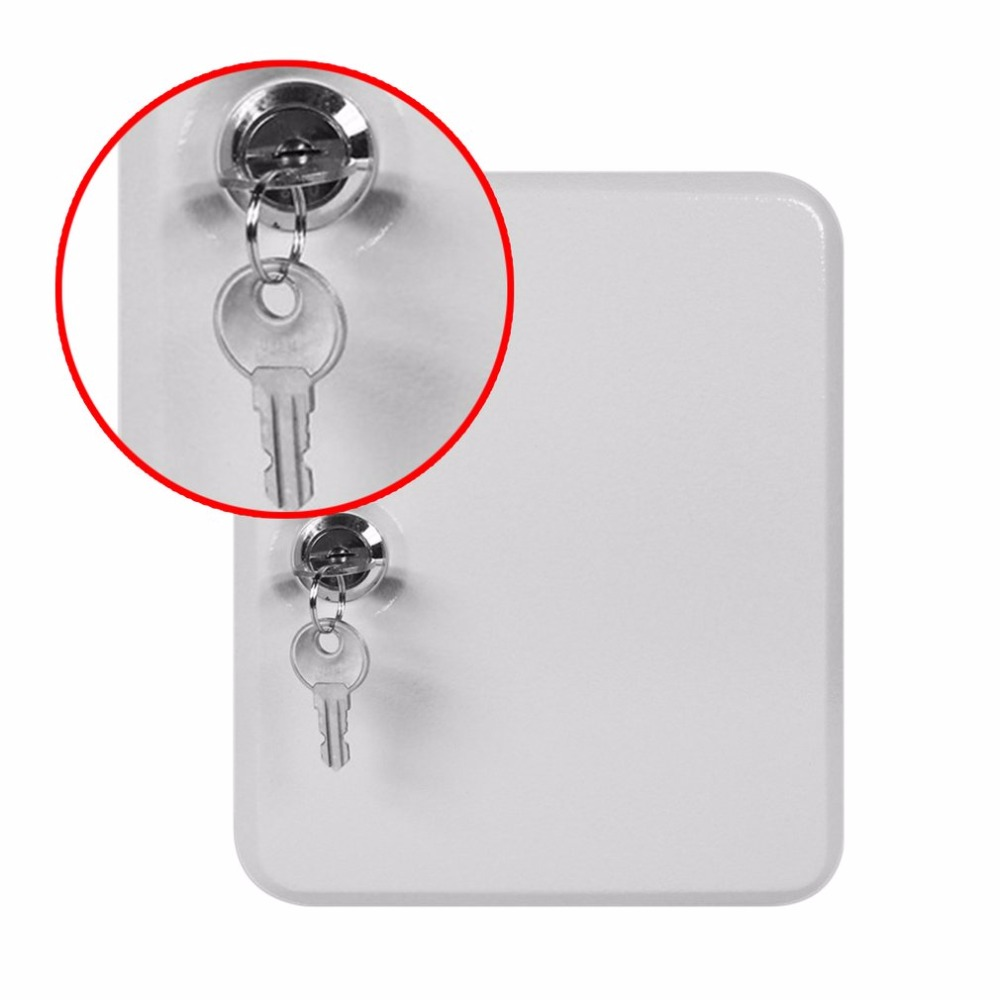 LESHP New Cost-effective Best Price Lockable Security Metal Key Cabinet Safe Storage Box with 20 Tags Fobs Wall Mounted<br>