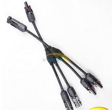 Solar Panel Y Type 1 to 2 MC4 Connectors M-FF and F-MM Branch Cable MC4 Solar Panel Connector