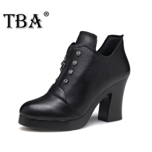 TBA 620# Ladies High Heel Shoes Gladiator Women's Platform Fashion Square Heeled Footwear Sexy High Heels Pumps Walking Shoes