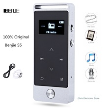 Original BENJIE S5 Mini HiFi Sound MP3 Player OLED 8GB Digital Voice Recorder Support TF Card Input and FM Radio MP3 Player