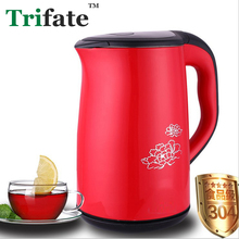 XDL18 1.8L 1500W fast heating anti-scald boiling water electric kettle red(China)