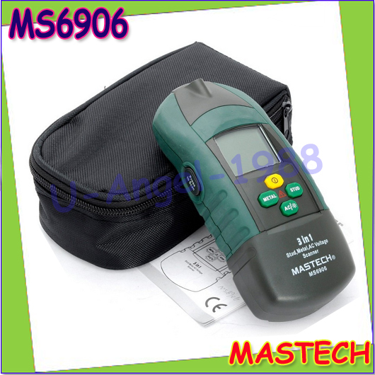 1pcs MASTECH MS6906 3 in 1 Multi-functional Scanner Stud Metal Detector AC Voltage Meter Wood Thickness Tester For Decoration<br><br>Aliexpress