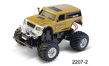 New Style RC Car Cross Country Vehicle High Speed Mini RC Car LED Light Bigfoot Hummer Car Best Gift for Kids Free Shipping(China)