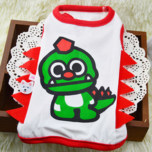 Big eye Dragon and Spot Dinosaur Stereo Cartoon Dog Vest Pet Dog Clothes Summer Clothing Dog Clothes Brand for Pet Dogs Jacket