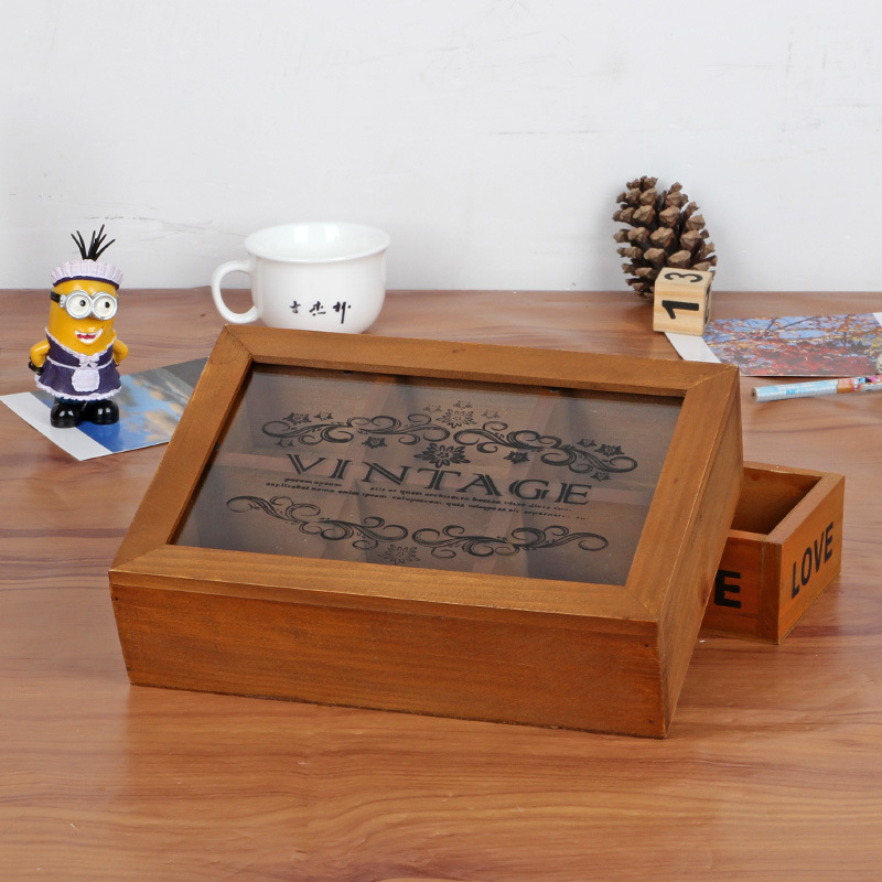 handmade storage holder retro wooden box lockable wood container jewelry wooden boxes with lids grocery storage box