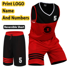 Customized Basketball Suit Men's Summer Basketball Jersey Short Sportswear Clothes Team Men's Suit Basketball Male Suit L-5XL