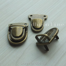 25 Sets Closure Catch Tuck Lock for Leather Bag Case Clasp hangbag Purse Bronze(China)