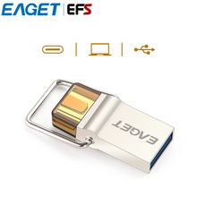 Hot Selling EAGET CU10  USB3.0 Type-C Pendrive Micro USB OTG Type C 16GB 32GB 64GB Metal Flash Drive Dual Plug USB Memory Stick