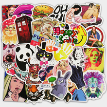 50 PCS Stickers Mixed Home Decor Toy Phone Skateboard Waterproof DIY Decal Luggage Laptop Car Styling JDM Doodle Funny Sticker(China)