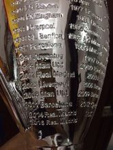 hot sale 2017 Champions League big Trophy 45 cm Soccer Fans for Collections Metal Silver Color Words with Madrid(China)