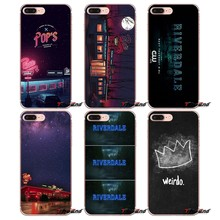 Soft TPU Cover For Huawei G7 G8 P7 P8 P9 Lite Honor 4C 5X 5C 6X Mate 7 8 9 Y3 Y5 Y6 II 2 Pro 2017 TV Shows Riverdale Logo Poster(China)