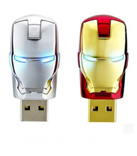 new arrive memory stick 4GB 8GB 16GB 32GB 64GB cool iron robot USB 2.0 usb flash drives thumb pendrive u disk usb creativo S112(China)