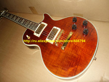 Custom Brown Electric Guitar IN STOCK The sample guitar Factory from china Free shipping